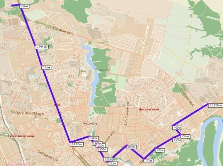 схемы движения маршрута: